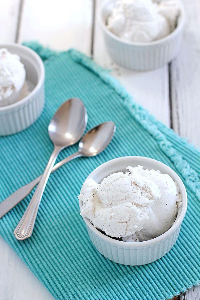 Sugar-Free Coconut Vanilla Ice Cream (vegan, gluten-free, paleo)