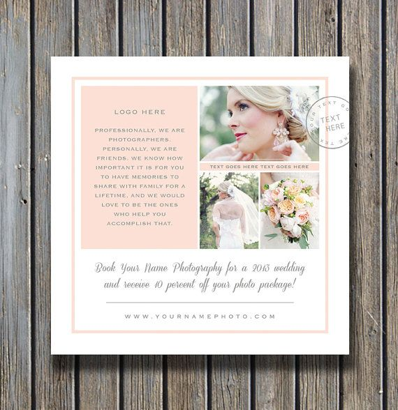Photography Marketing Template - Square Flyer Design for Facebook & Blogs
