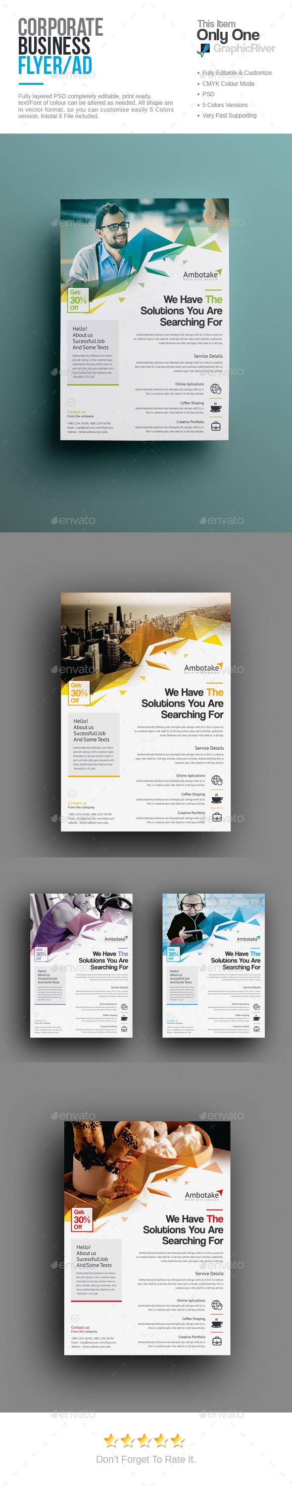 Corporate Flyer Template PSD Download here httpgraphicrivernet