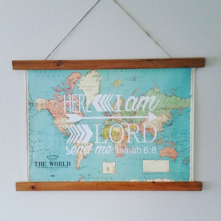 World Map with scripture detail by ABCsofLOVE on Etsy