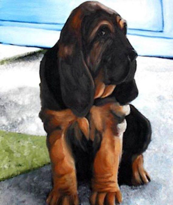 Bloodhound Dog Sticker Terrier by RMBArtStudio on Etsy, $0.96