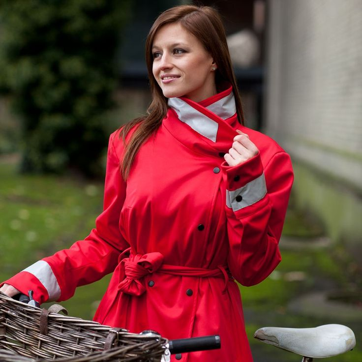Water Off A Duck's Back Livia Coat (Red) - Weatherproof - Clothing - VeloVixen