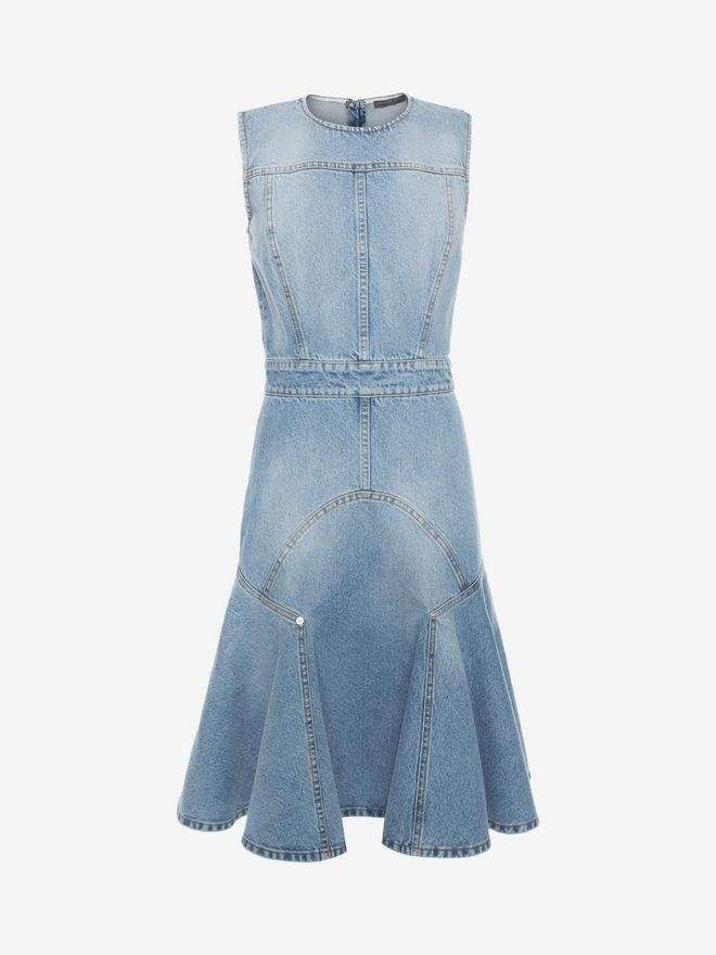 40fc47e3da27dd Faded Denim Dress