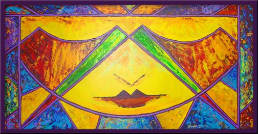 """Stained glass-inspired series of paintings. """"Something More 2"""""""