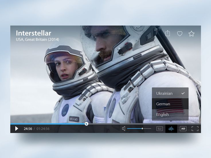 Working on user interface for interactive web player with volume, subtitles, HD resolution and full-screen buttons. Enjoy ;)