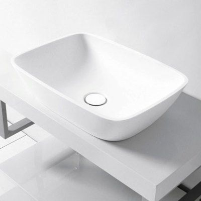 We love the silky smooth, matte finish of the Elbe Silkstone Vessel Basin