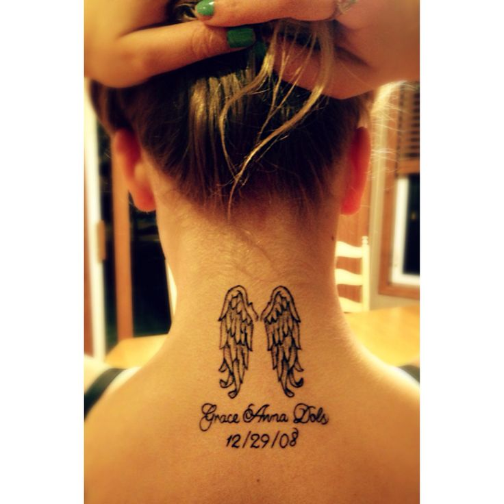 Wing tattoo in memory of my sister