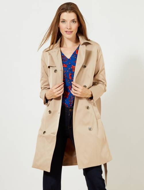 1c3fd0f65 Trench liso impermeable en 2019 | Kiabi | winter | Impermeable mujer ...