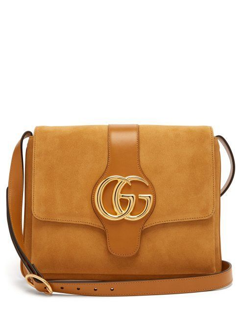 5d6069cc4 GUCCI Arli GG suede and leather cross-body bag. #gucci #bags ...