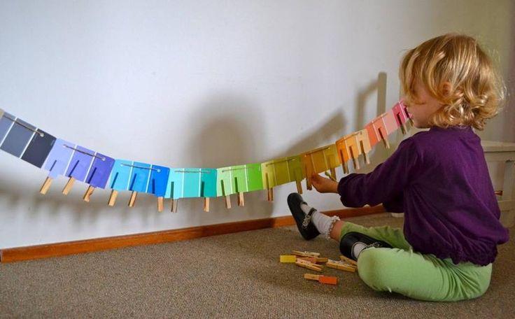 nuancier montessori à fabriquer pour la classe.