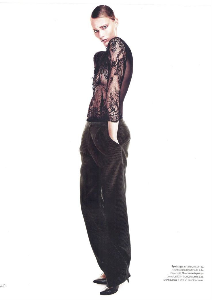 Julie Fagerholt / Heartmade Lace blouse in the swedish magazine Damernas Värld