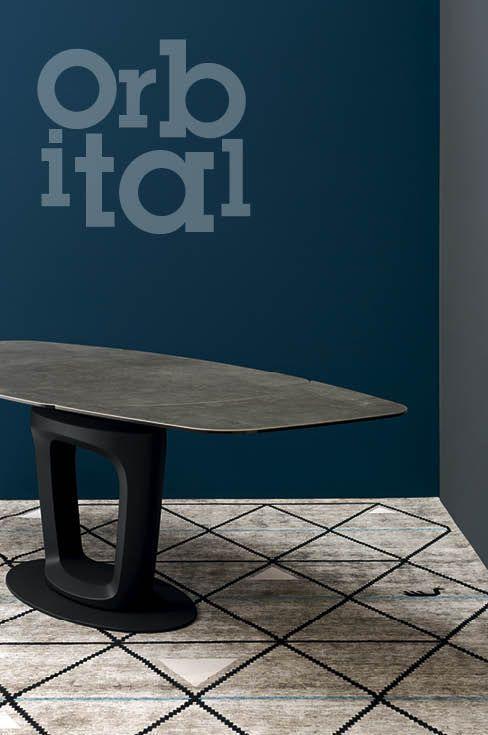 Table à manger / contemporaine / en céramique ORBITAL by Pininfarina  calligaris