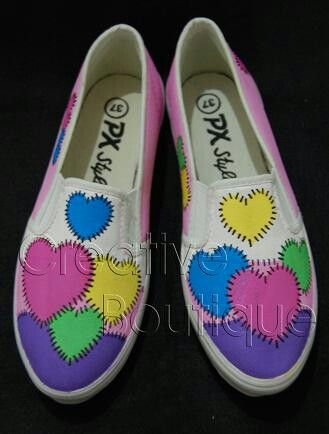 Painting shoes Love pattern  Only 125k-135k