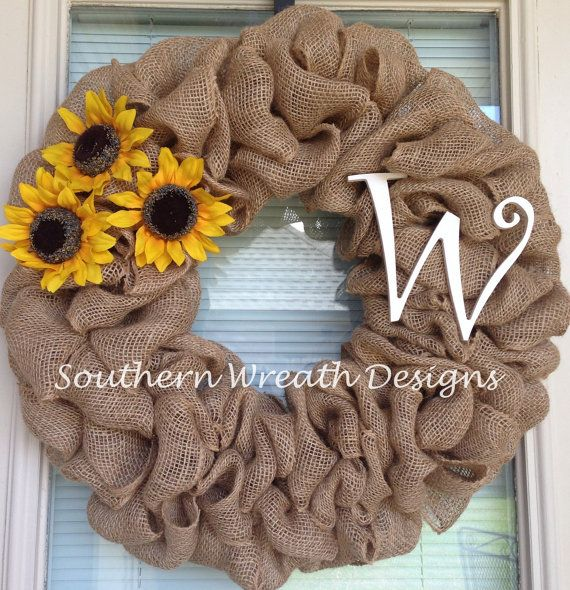 wreaths burlap with intial | Add it to your favorites to revisit it later.