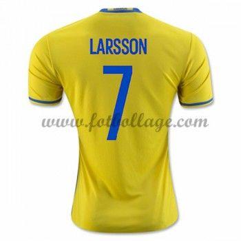 Sverige Landslagströja 2016 Larsson 7 Hemma Tröjor
