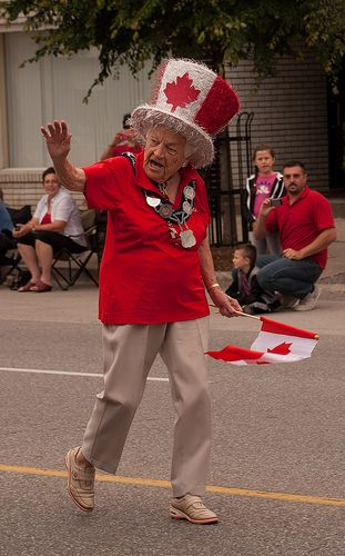 Mayor Hazel Canada Day 2013. Mississauga Mayor for 36 years - although she's in her 90s, she's still going strong!
