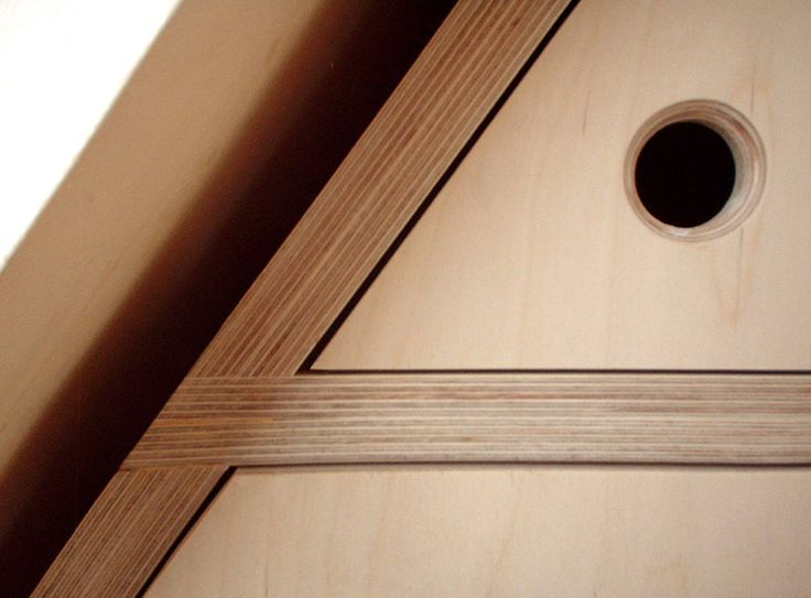 'Weaver' Plywood fitted wardrobes, detail.