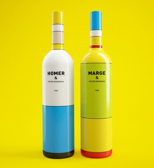 You'll fall in love with these mysterious Simpsons wine bottles