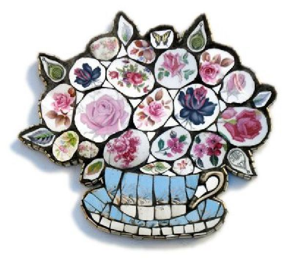 Черепки как доброе воспоминание о прошлом, или Новая жизнь разбитой посуды - Ярмарка Мастеров - ручная работа, handmade