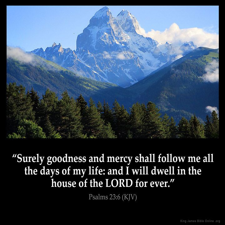 Psalms 23:6  Surely goodness and mercy shall follow me all the days of my life: and I will dwell in the house of the LORD for ever.  Psalms 23:6 (KJV)  from King James Version Bible (KJV Bible) http://ift.tt/20Jj1oD  Filed under: Bible Verse Pic Tagged: Bible Bible Verse Bible Verse Image Bible Verse Pic Bible Verse Picture Daily Bible Verse Image King James Bible King James Version KJV KJV Bible KJV Bible Verse Pic Picture Psalms 23:6 Verse         #KingJamesVersion #KingJamesBible…