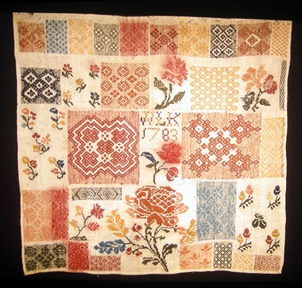 Pattern Darning Sampler 1783