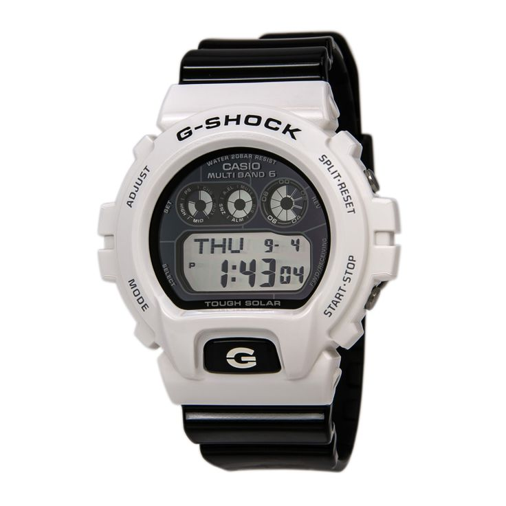 Casio GW6900GW-7 Men's G-Shock Tough Solar Power Digital Black Dial Black  Resin