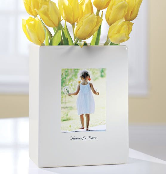 Choose Mom's favorite photo and we will transfer it onto this Personalized Ceramic Vase for only $37.99!