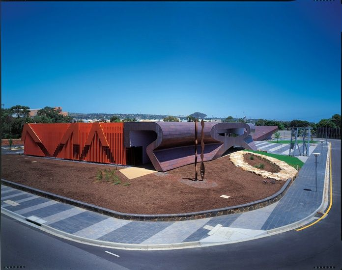 Marion Cultural Centre In the Adelaide suburb by ARM (Ashton Raggatt McDougall and Phillips Pilkington Architects in Association)