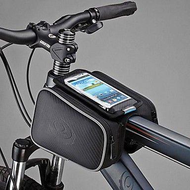 Roswheel de bicicleta de la bici delantera superior del marco del tubo Pannier Doble bolsa del bolso del teléfono móvil de 5 pulgadas 1.8L – MXN $ 221.74