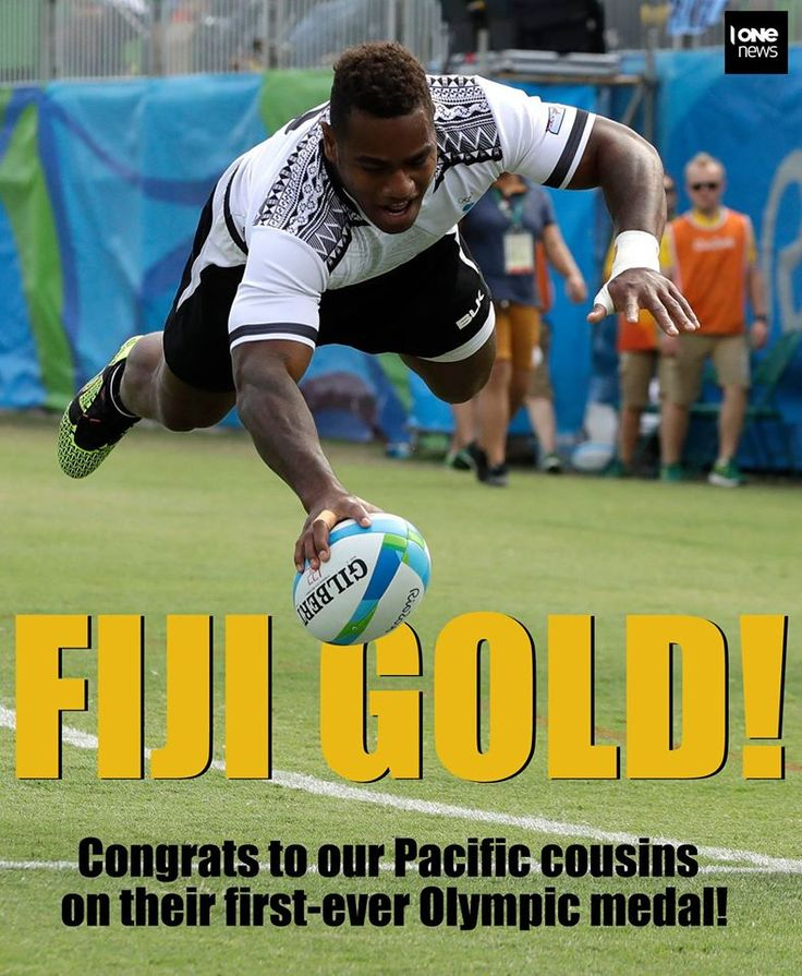 Congratulations Fiji! Olympic gold medallists in the Rugby 7's tournament