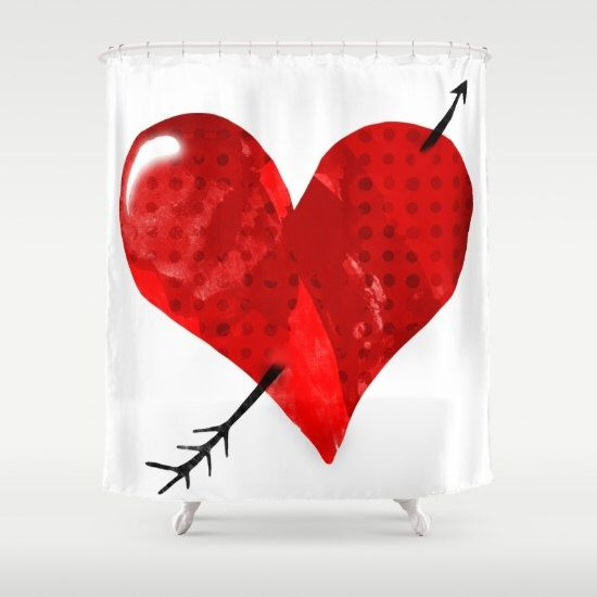 Rustic Red Old Heart Shower Curtain by rupydetequila on Etsy https://www.etsy.com/listing/477240699/rustic-red-old-heart-shower-curtain