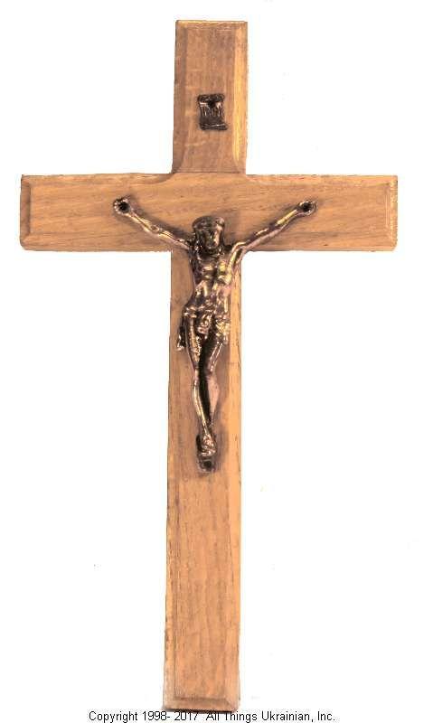 Ukrainian Hand Carved Carpathian Wood Cross # WCR1601 on AllThingsUkrainian.com