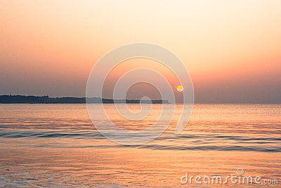 Mystic magic sunrise at Diu, India.