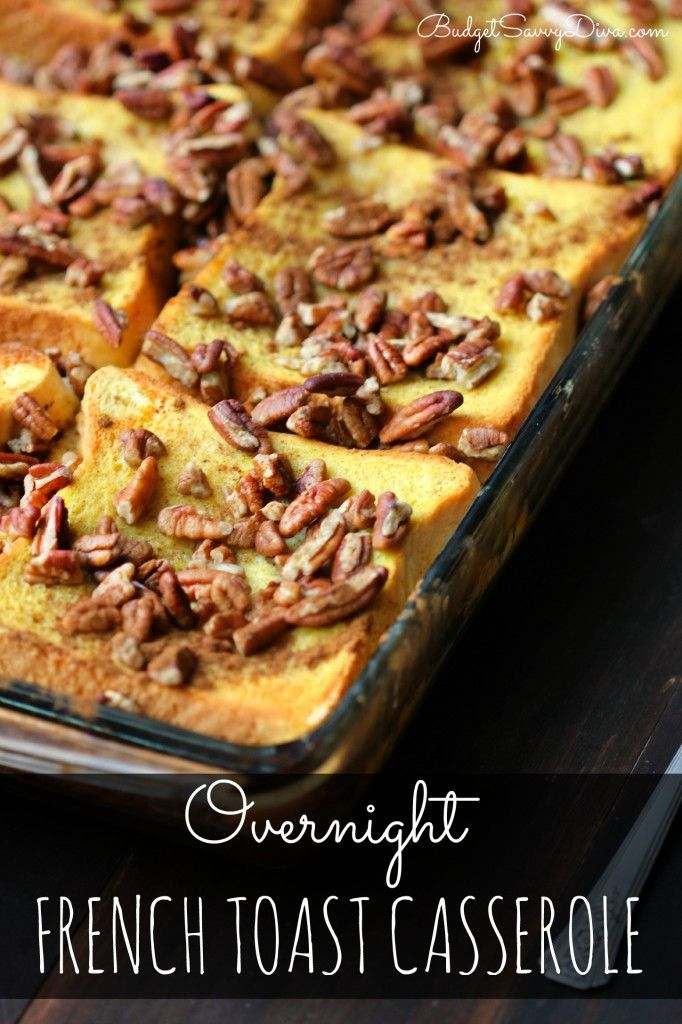 SIMPLY Amazing Breakfast Casserole - simple to put together the night before - just pop it in the oven in the morning and you are DONE! Overnight French Toast Casserole Recipe #recipe #budgetsavvydiva #frenchtoast #breakfast via budgetsavvydiva.com