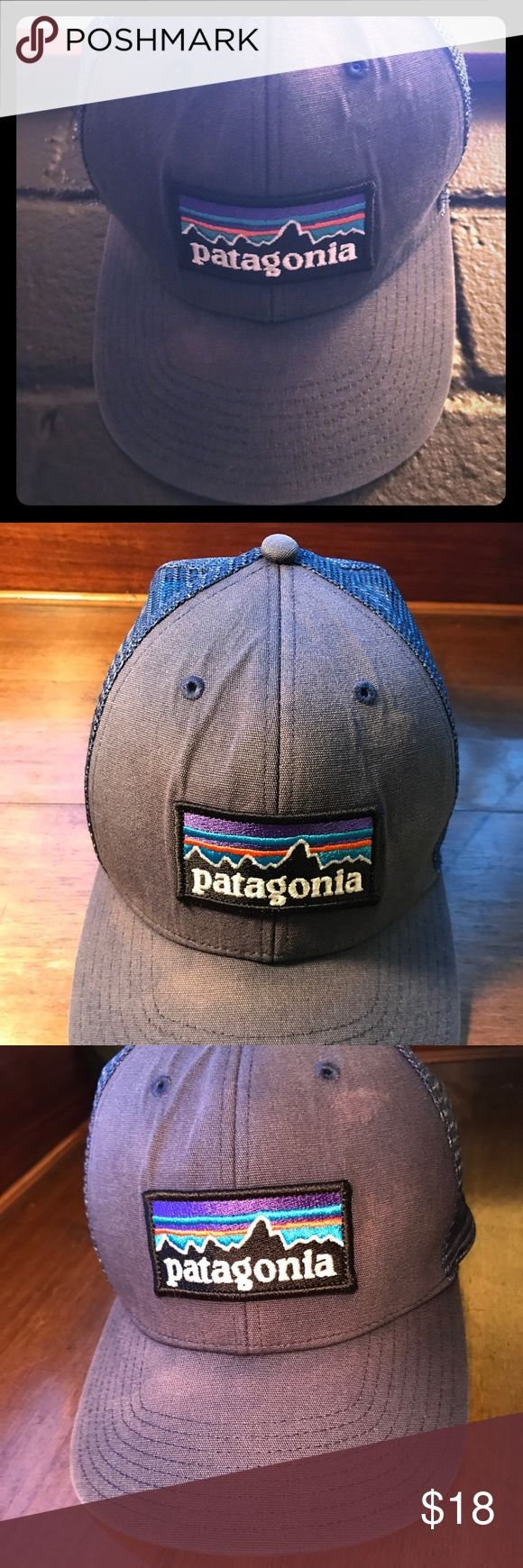 Patagonia Trucker Snapback Hat Patagonia trucker snapback. Mesh section is super lightweight. See photos for two small spots that are a tiny bit lighter than the rest. The main panel has a slightly melange effect so I keep changing my mind about whether it's supposed to be like that. I ramped up the shadowing in the last photo to show you what I mean, but irl it doesn't stand out that much. In any case, it blends in well. Lmk if you have questions! Patagonia Accessories Hats