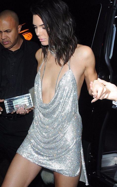 Celebrity Styles Kenny Silver Mini Dress Kendall Jenner Birthday