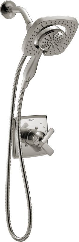 Delta T17264-I Ashlyn Monitor 17 Series Dual Function Pressure Balanced Shower T Brilliance Stainless Faucet Shower Only Single Handle