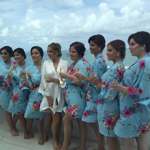 luxury bathrobes useful bridesmaid gifts cheap kimonos by ForBride