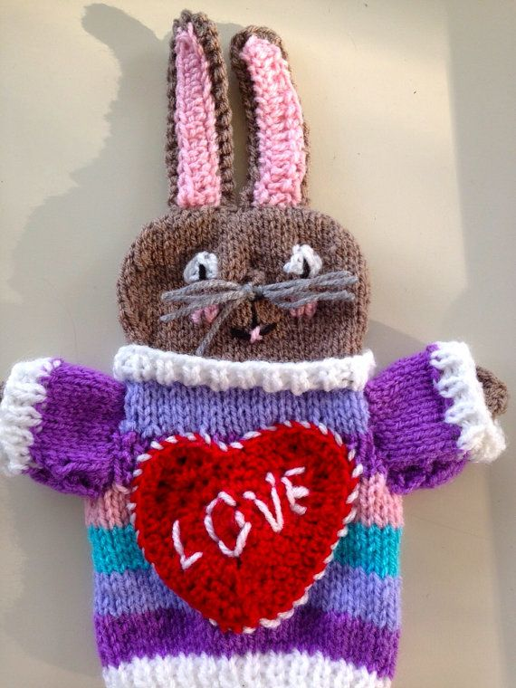 vrolijke paashaas valentijn paasdecoratie van HandDoll op Etsy