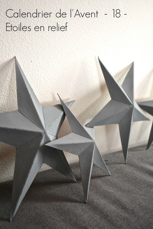calendrier de l'avent créatif- creative advent calendar- stars, étoiles