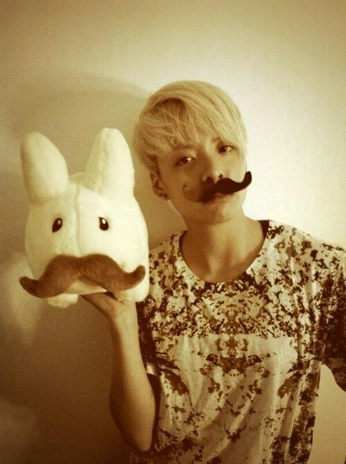 Amber with a moustache!