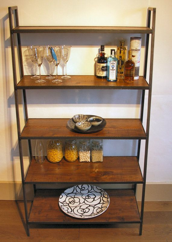 Large Industrial Style Ladder Shelving Unit by ppmwoodshop on Etsy