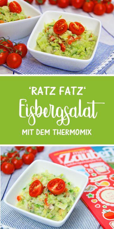 Eisbergsalat 'Ratz Fatz' mit dem Thermomix. Super schnell & einfach.