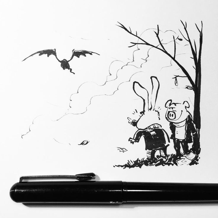 """Look! It's the Inktober Dragon! Goodbye Inktober dragon! See you next year!!!""  #inktober #inktober2015 #final"
