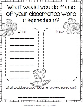 Just Wild About Teaching: Lucky St. Patrick's Day Freebie!  Adorable freebie just in time for St. Patrick's Day!    justwildaboutteaching.blogspot.com