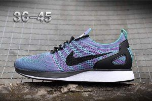the latest f7729 c6417 Mens Womens Nike Air Zoom Mariah Flyknit Racer Running Shoes Purple  Multi-Color Black White