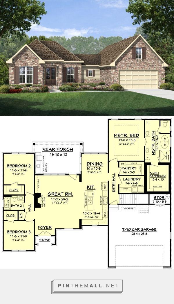 Best 25 2000 sq ft house ideas on pinterest ranch floor for 110 sq ft bedroom design