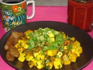"""Завтрак """"Зеленая планета"""" с тофу"""