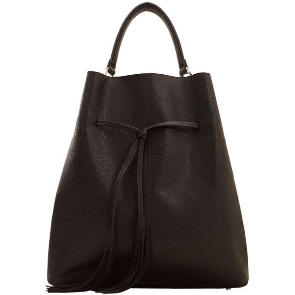 Tassel Hobo Bag (£40) ❤ liked on Polyvore featuring bags, handbags, shoulder bags, shoulder strap handbags, mango handbags, shoulder strap bags, mango purse and hobo shoulder handbags