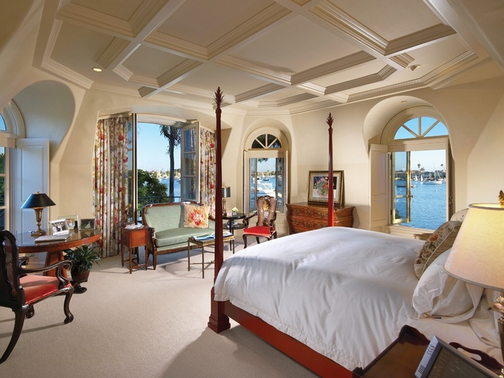 via lido soud lido isle newport beach orange county california bedroom with harbor